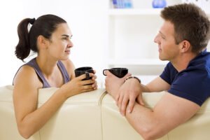 Adult Couple Talking